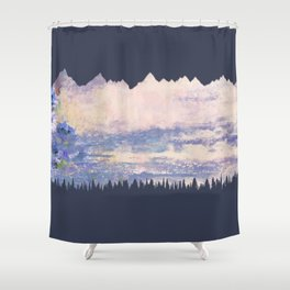 Mountains Fore Shower Curtain