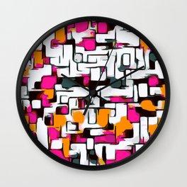 sweet lines drawing Wall Clock