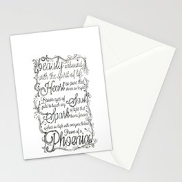 Phoenix Series, Poem in English (Part 2 0f 3) Stationery Cards