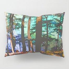 MOUNTAIN LAKE THROUGH HEMLOCK TREES Pillow Sham