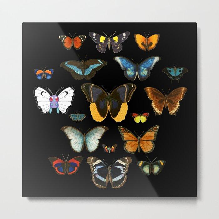 Entomology (Black) Metal Print
