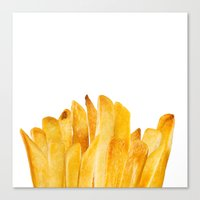 french fries Canvas Prints featuring french fries by jeff gravel