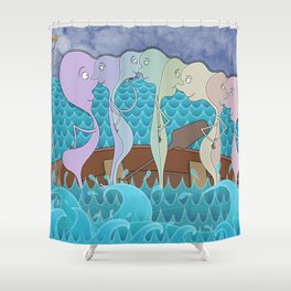 We Are All In The Same Boat Shower Curtain
