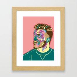 DavidBeckham Pop Pink Framed Art Print