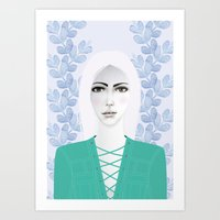 army Art Prints featuring Army Girl by EISENHART