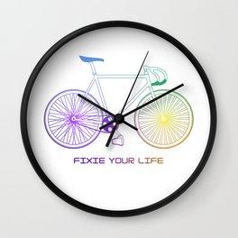 Fixie White Wall Clock