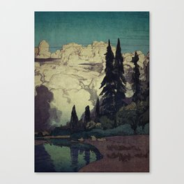 The Pending Storm at Hike Canvas Print