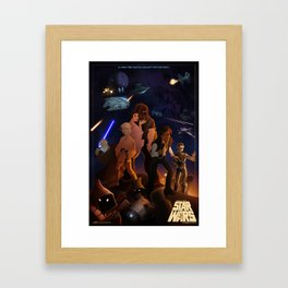 I grew up with a new hope Framed Art Print