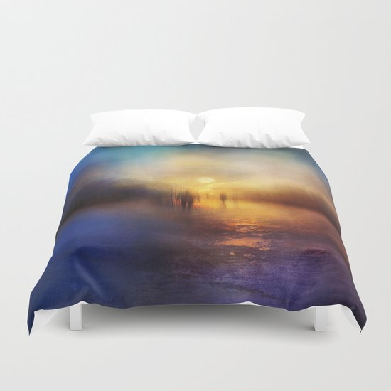 Light Echoes Duvet Cover
