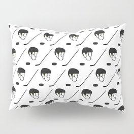 Hockey Equipment Pattern Pillow Sham