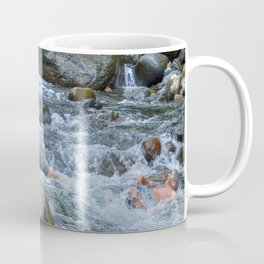 Brothers in harmony in the powerful Mameyes River - El Yunque rainforest PR Coffee Mug