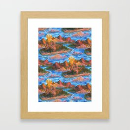 volcano pattern Framed Art Print