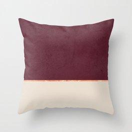 BURGUNDY NUDE GOLD MINIMALIST Throw Pillow