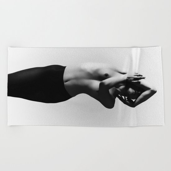 Nude dancer black and white nude photography 2010 Beach Towel