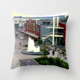 Waterfront Fountain Throw Pillow