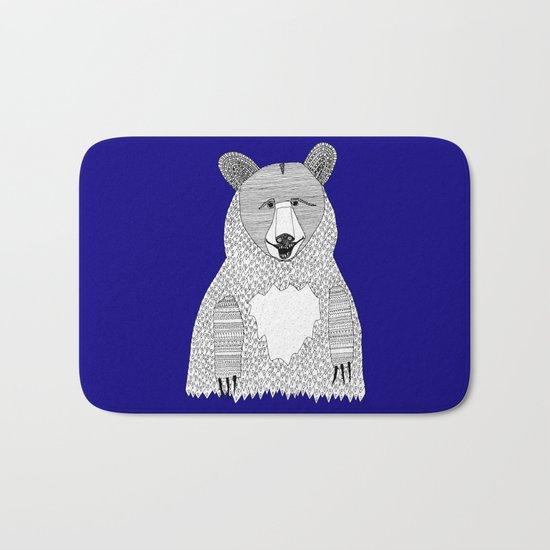 Blue Bear Bath Mat