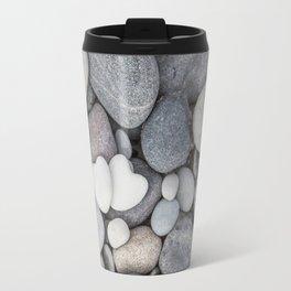 Heart Pebble Stone Mineral Love Symbol Travel Mug