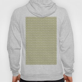 Abstract geometric pastel green white gradient triangles Hoody