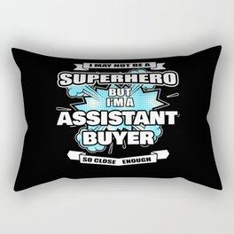 Assistant Buyer Superhero Assistant Buyer Gift Rectangular Pillow
