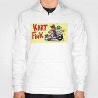mario kart Hoodies featuring Kart Fink Big Bro! by Avedon Arcade