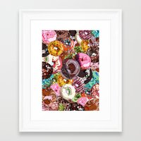 donuts Framed Art Prints featuring Donuts by Tina Mooney