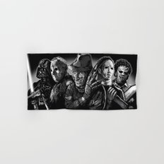 Freddy Krueger Jason Voorhees Michael Myers leatherface Darth Vader Blackest of the Black Hand & Bath Towel