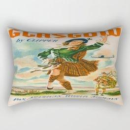 Vintage poster - Glasgow Rectangular Pillow