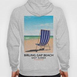 Birling Gap Beach, East Sussex vintage train poster Hoody