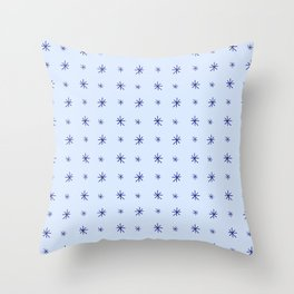 stars 130 - blue Throw Pillow