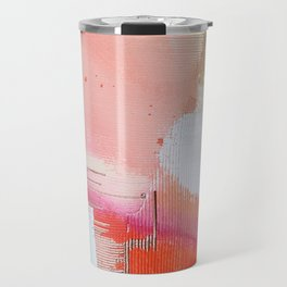 Moving Mountains: a minimal, abstract piece in reds and gold by Alyssa Hamilton Art Travel Mug