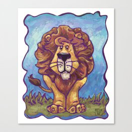 Animal Parade Lion Canvas Print