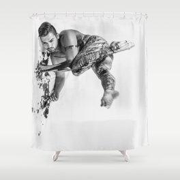 Oil Man Shower Curtain