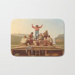 The Jolly Flatboatmen George Caleb Bingham Bath Mat