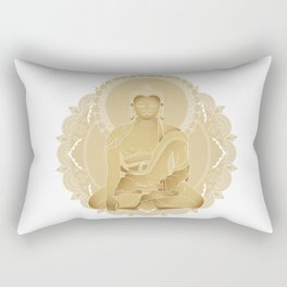 Gold buddha Rectangular Pillow