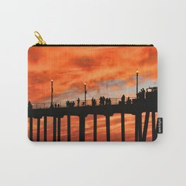 Red Skies At Night ~ Sunset HB Pier Carry-All Pouch
