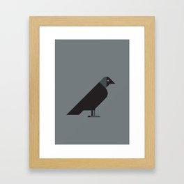 European Jackdaw vector illustration Framed Art Print
