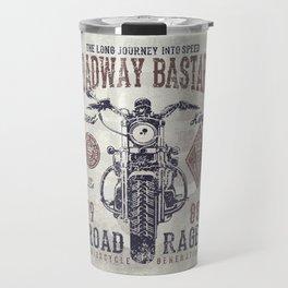 Vintage Motorcycle Poster Style Travel Mug