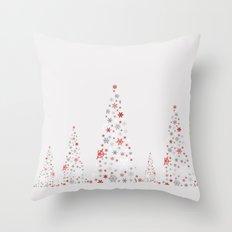 Snowflake Trees Throw Pillow
