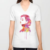 audrey V-neck T-shirts featuring Audrey by Fimbis