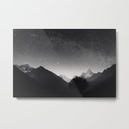 Himalayas at Night Metal Print