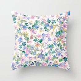 Daisies Spring blooms Throw Pillow