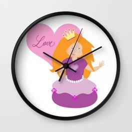 Princess Love Wall Clock