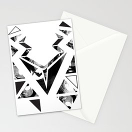 Black geometric animal Stationery Cards