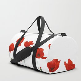 Poppy Stems Duffle Bag