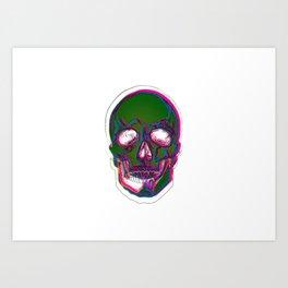 Skull Digital Drawing Art Print