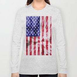 American Flag Extrude Long Sleeve T-shirt