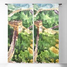 Great Wall of China Blackout Curtain