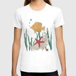 Angelfish, Starfish, Sea Creatures  T-shirt