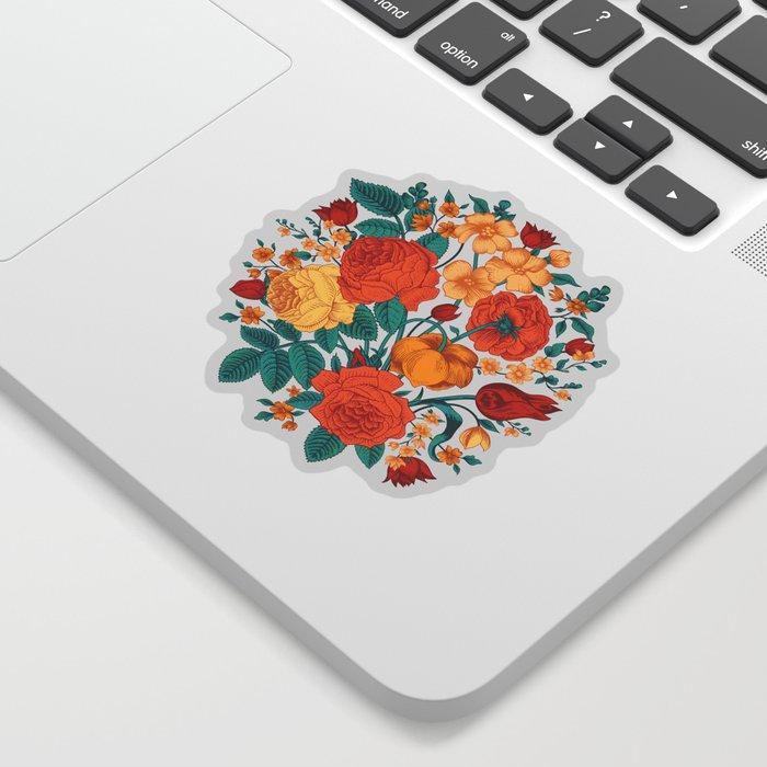 Vintage flower garden Sticker