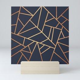 Copper and Midnight Navy Mini Art Print